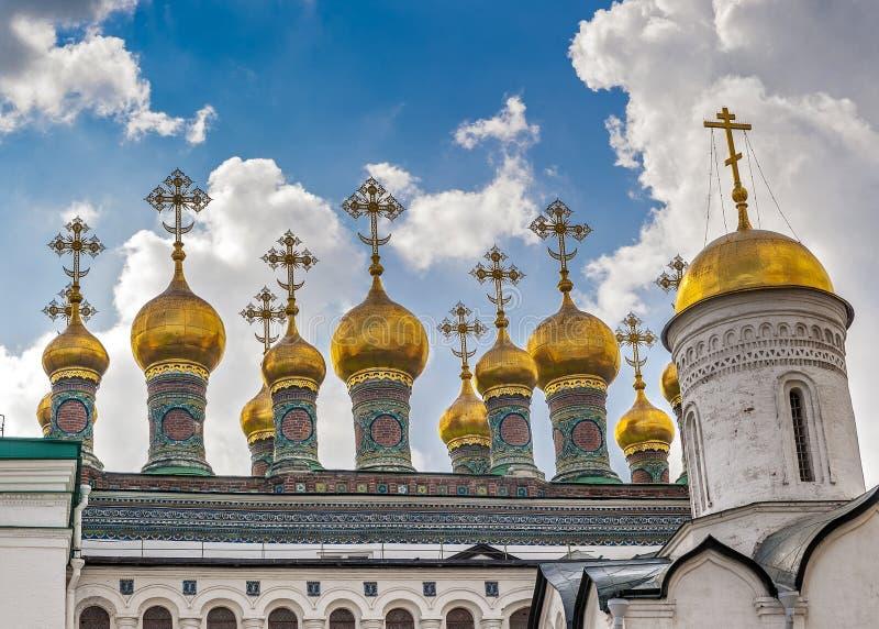 Rússia, Moscou, Kremlin, igrejas de Terem ou catedral do salvador superior fotos de stock royalty free