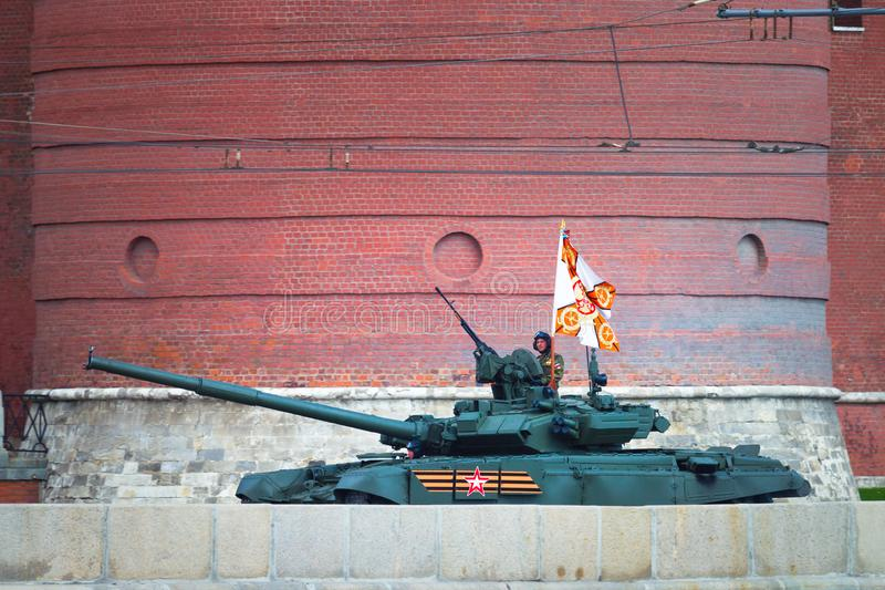 Rússia, Moscou, o 7 de maio de 2016 - ensaio da parada militar mim fotografia de stock