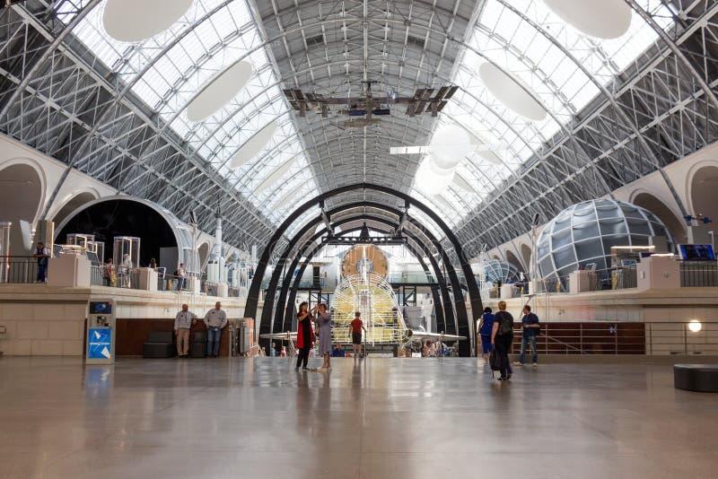 Rússia, Moscou, VDNH: Exposição do centro da cosmonáutica e da aviação - o museu de espaço o maior em Rússia imagem de stock