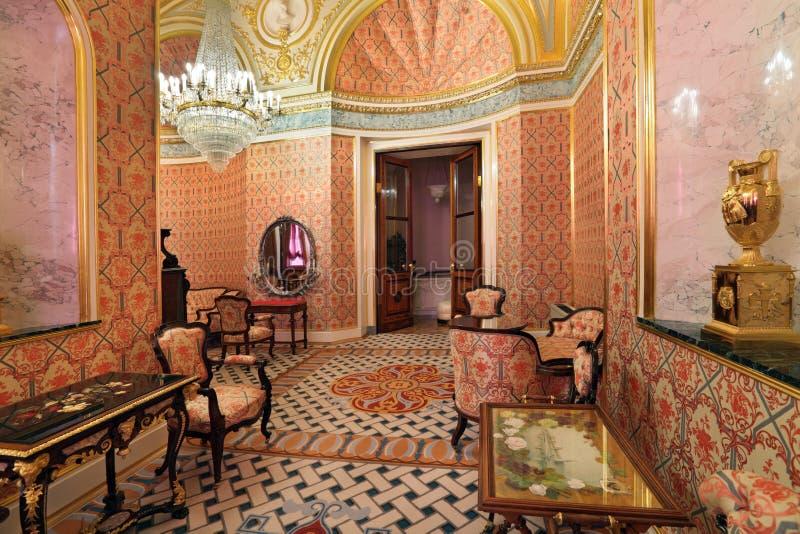 Interior grande do palácio de Kremlin fotos de stock