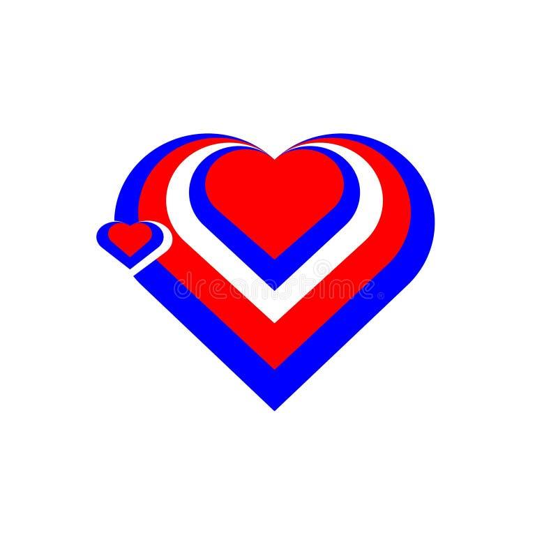 Rússia O coração de Rússia ilustração do vetor