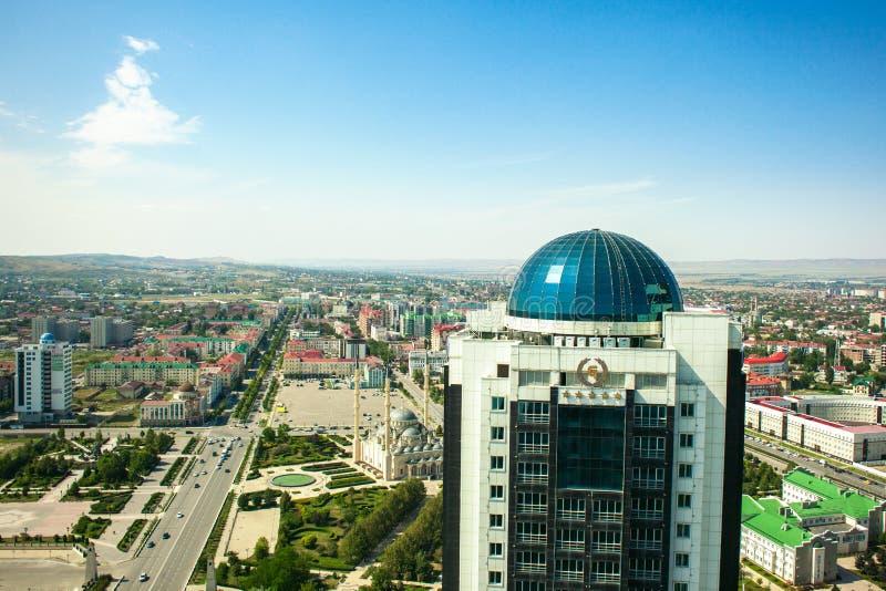 Rússia República chechena Cidade de Grozny 1º de setembro de 2017 imagens de stock