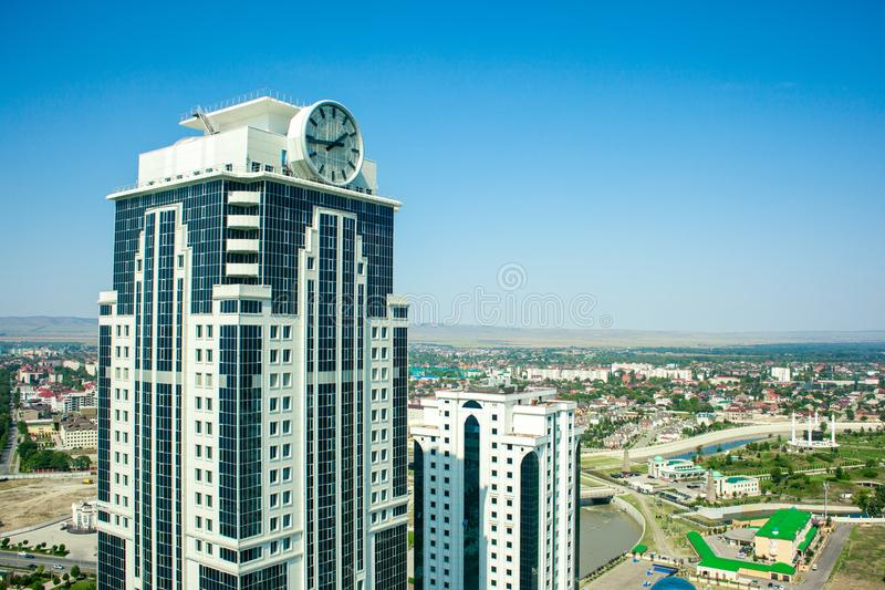 Rússia República chechena Cidade de Grozny 1º de setembro de 2017 fotos de stock royalty free