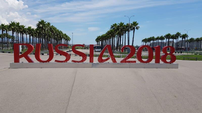 Rússia 2018, Sochi, a cidade que hospeda o campeonato do mundo fotos de stock royalty free