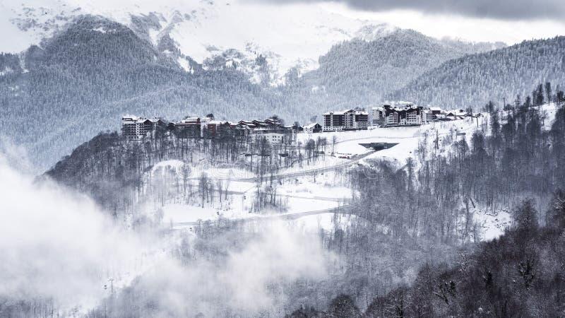 Rússia, Sochi, Krasnaya Polyana, Rosa Plateau foto de stock royalty free