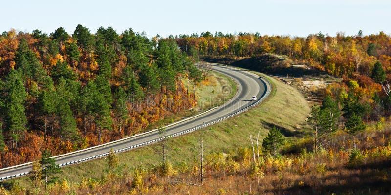 Rússia a trilha de Extremo Oriente, Amur no outono foto de stock royalty free