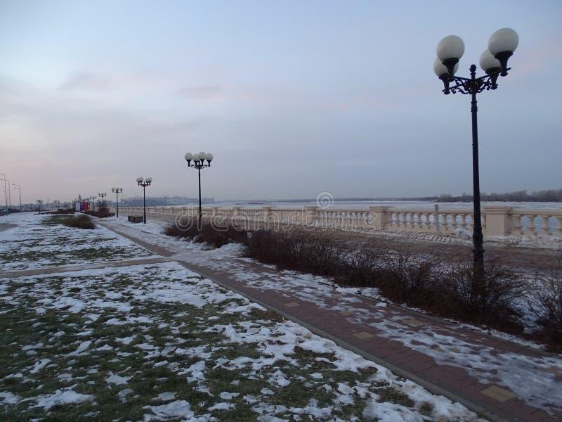 Rússia Viagem a Rússia central Nizhny Novgorod Inverno foto de stock