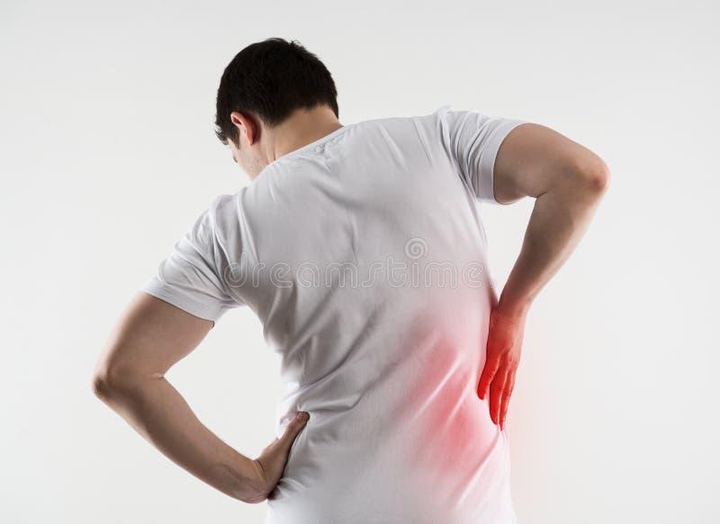 Rückenverletzung stockfotografie