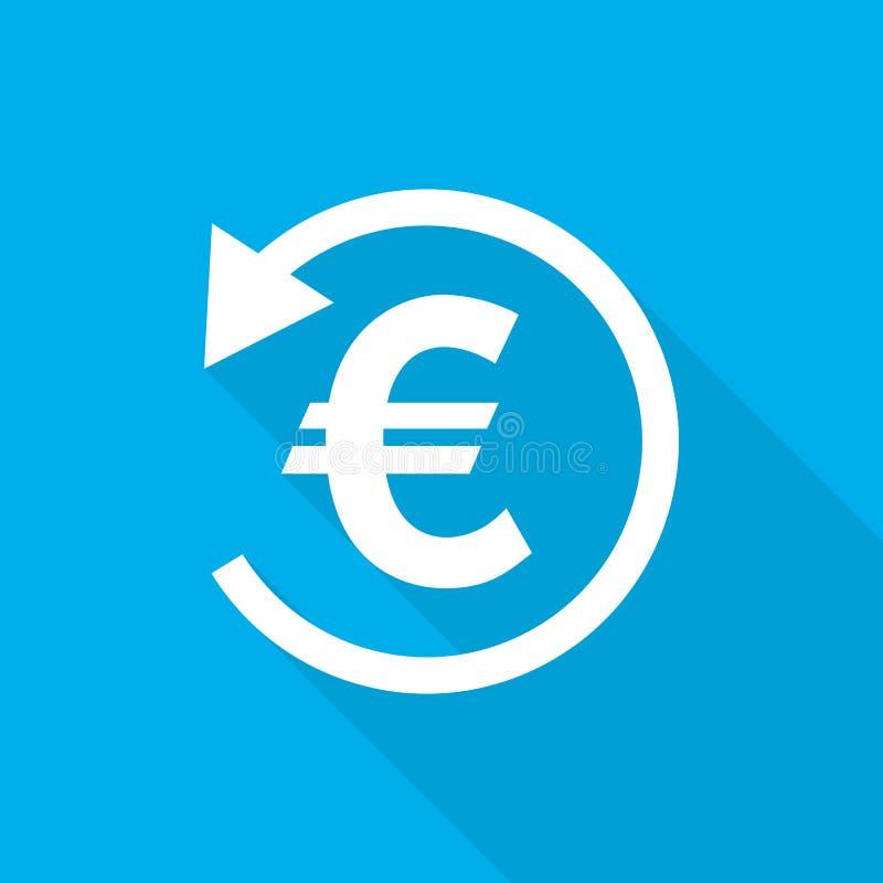 Rückerstattungsgeldikone Auch im corel abgehobenen Betrag lizenzfreie abbildung