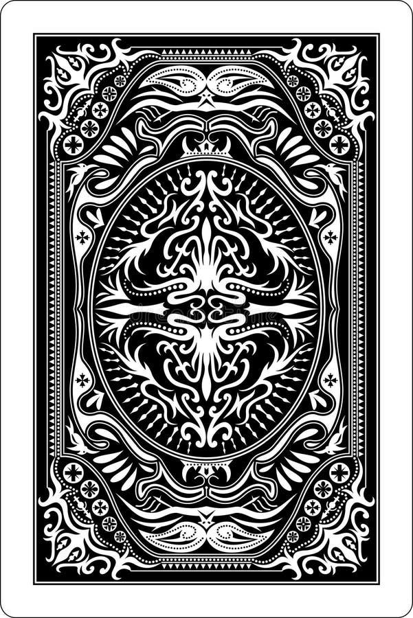 Rückseite 60x90 Millimeter der Spielkarte vektor abbildung