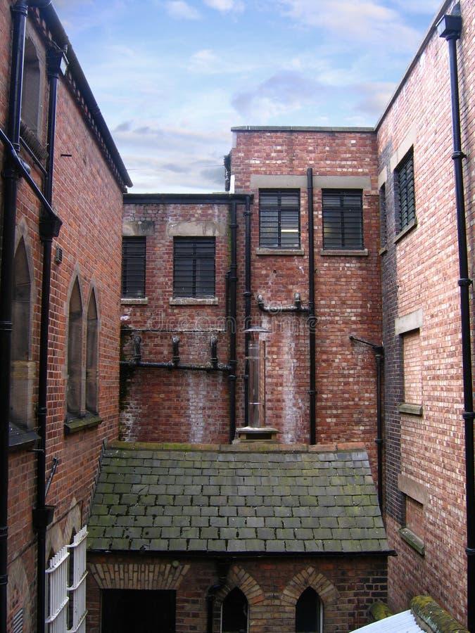 Rückseite der alten Gebäude in Chester stockfotos