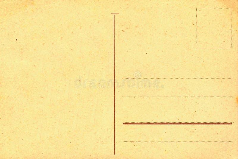 Rückseite der alten Postkarte stockbilder