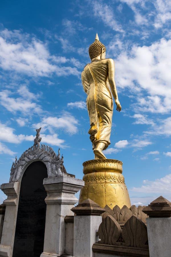 Rückseite der goldenen Buddha-Statue lizenzfreie stockbilder