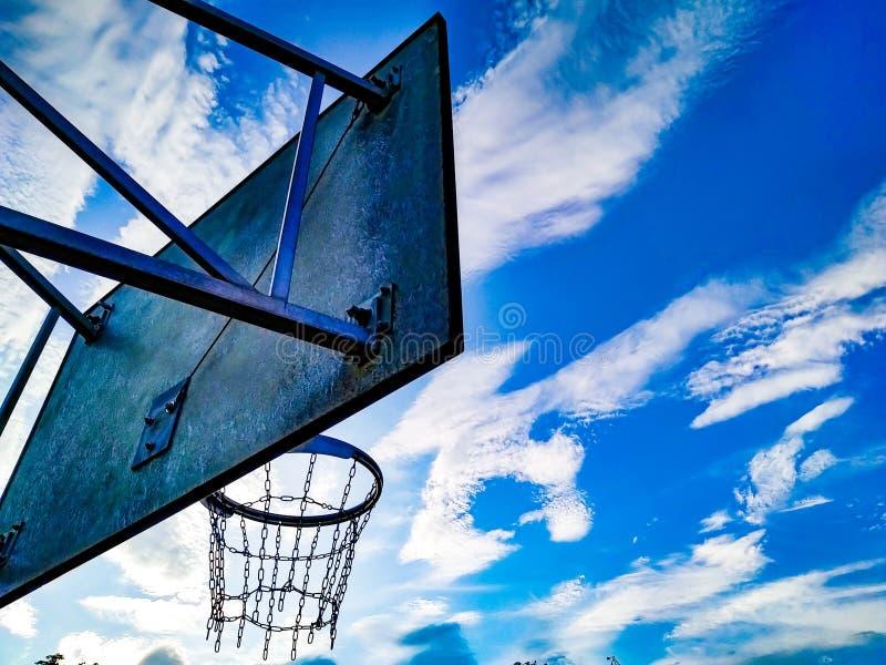 Rückseite des Basketballbrettes stockbilder