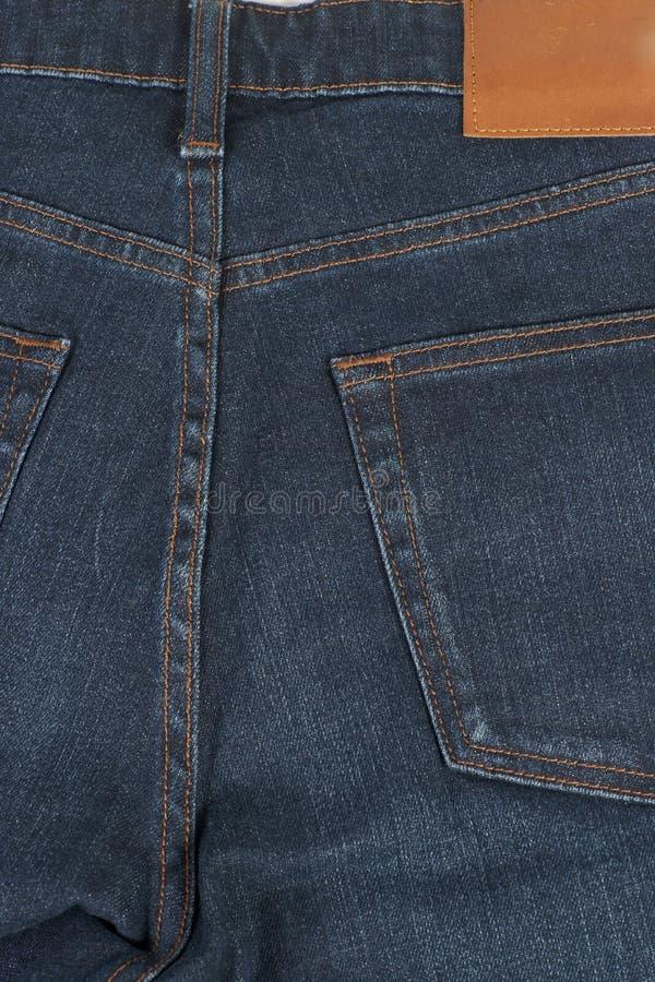 Download Rückseite Des Blauen Baumwollstoffs Der Nahaufnahme Stockfoto - Bild von tasche, auslegung: 26374794