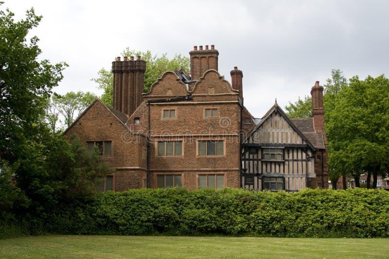 Rückseite des Eichen-Hauses West Bromwich England stockfotografie