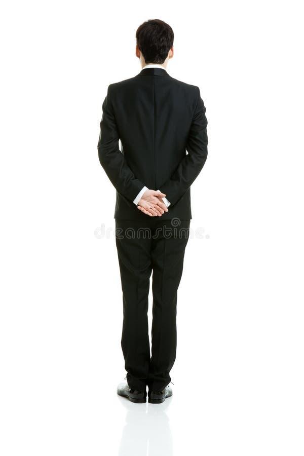 Rückseite eines Geschäftsmannes stockfotografie
