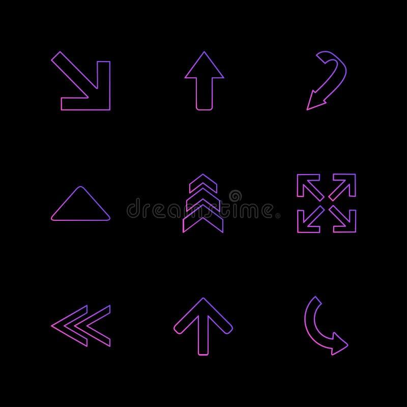 Rückseite, Pfeile, Richtungen, link, recht, Zeiger, ENV-Ikonen s stock abbildung