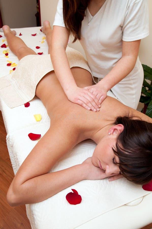 Rückseitige Massage lizenzfreie stockfotografie
