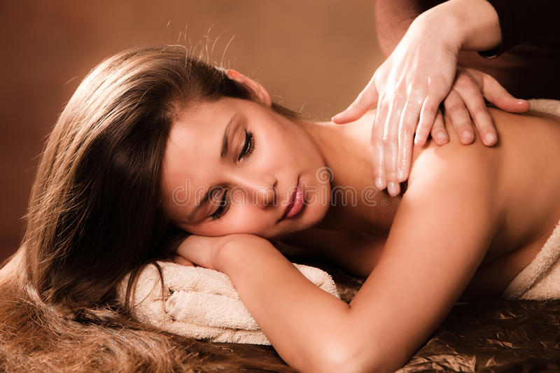 Rückseitige Massage stockfoto