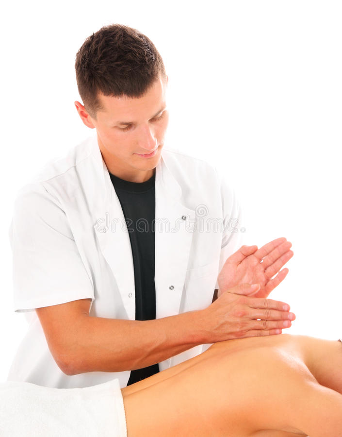 Rückseitige Massage des Fachmannes lizenzfreies stockbild