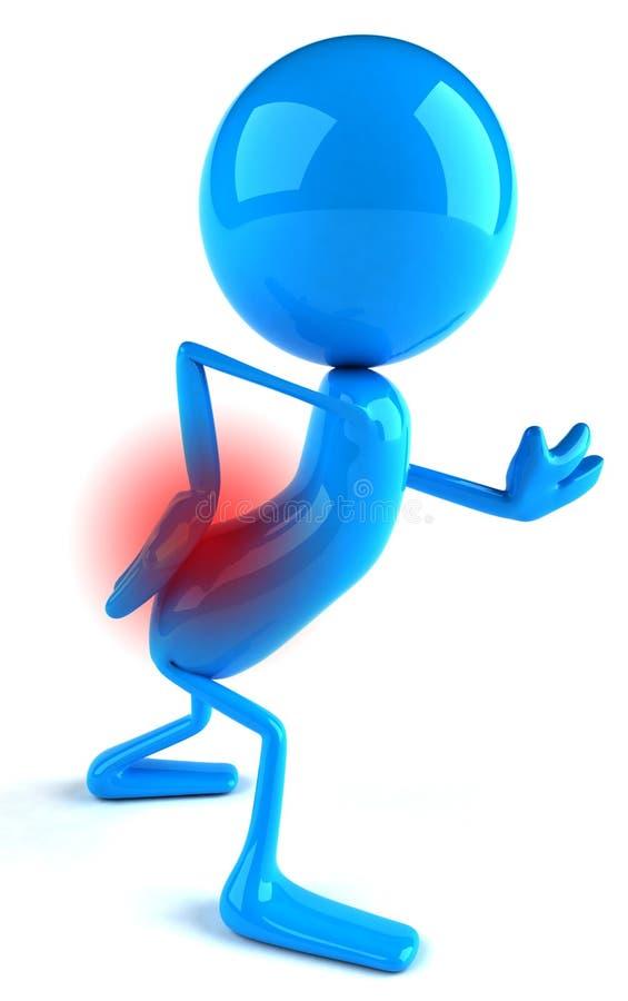 Rückseitige Schmerz stock abbildung