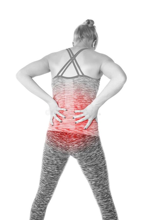 Rückseitige Schmerz stockbild