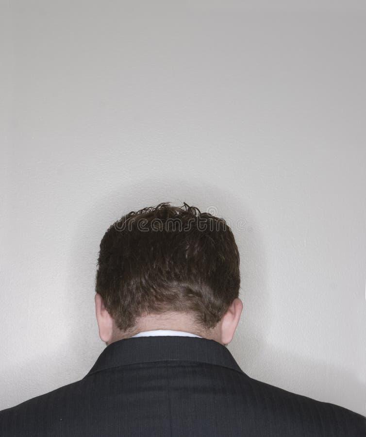 Rückseitiger Kopf des Geschäftsmannes lizenzfreies stockbild