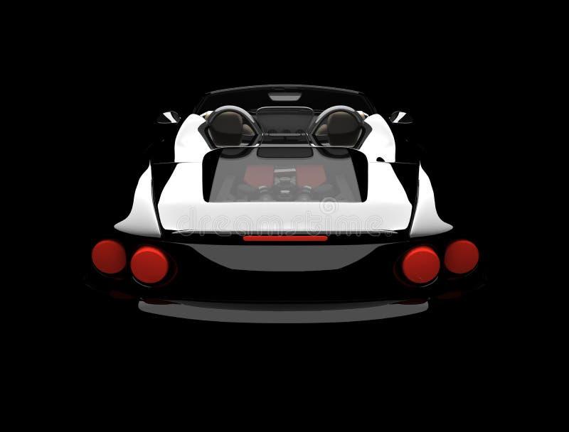 Rückseitiges Auto des Schwarzen stock abbildung