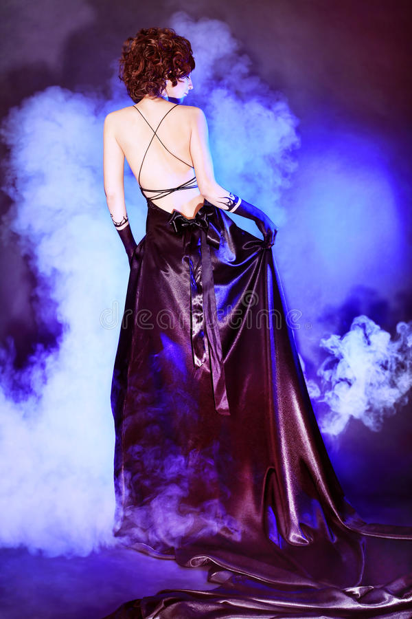 Rückseitiges Kleid lizenzfreie stockbilder