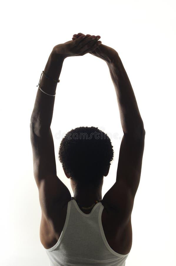 Rückseitiges Portrait des jungen Afroamerikanermannes lizenzfreie stockfotografie