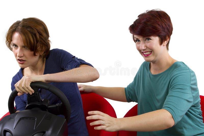 Rücksitzfahrer stockfoto