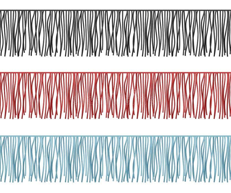 Rüschen umranden, säumen die nahtlosen Teil Reihenvektorkleider ein vektor abbildung