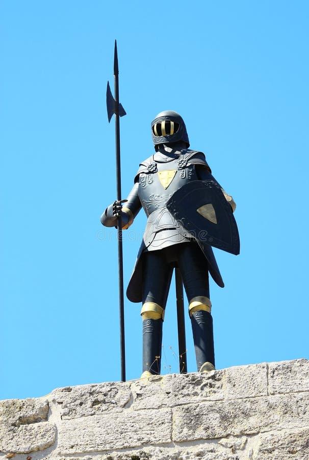 Rüstung des Ritters infolge Rhodos lizenzfreies stockbild