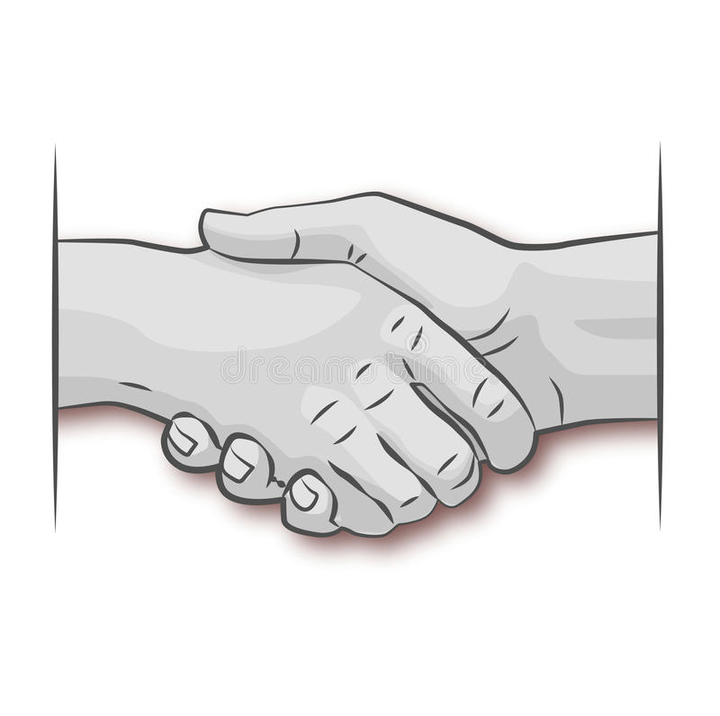 Rütteln der Hände lizenzfreie abbildung