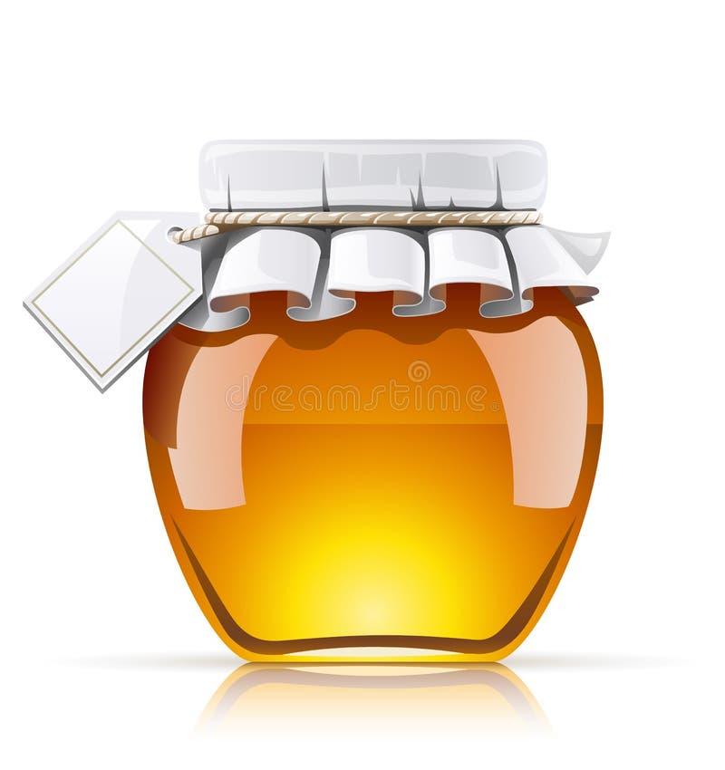 Rütteln Sie mit Honig lizenzfreie abbildung