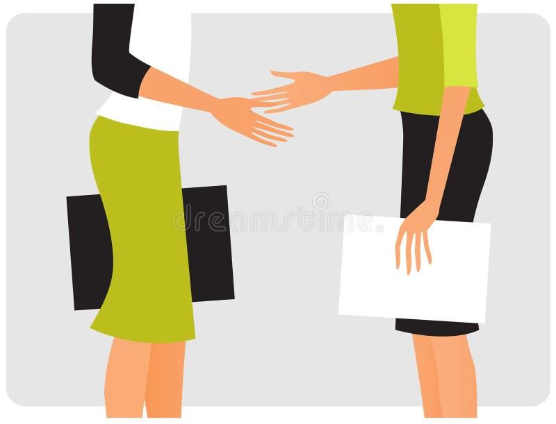 Rütteln von Händen stock abbildung