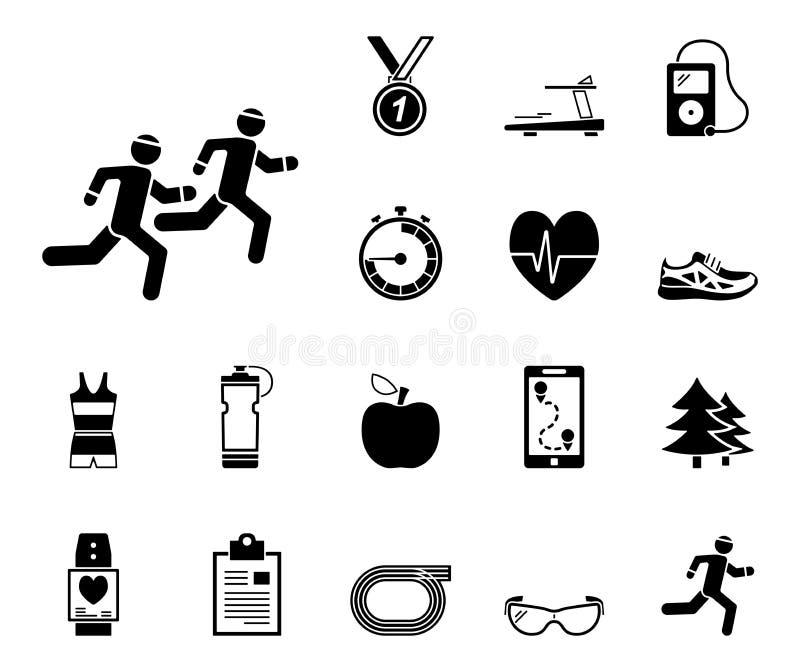 Rüttelnde und laufende - Iconset - Ikonen lizenzfreie abbildung