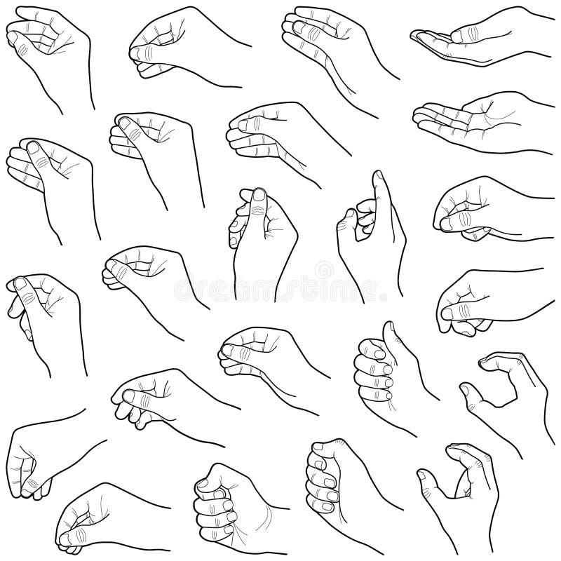 ręce royalty ilustracja