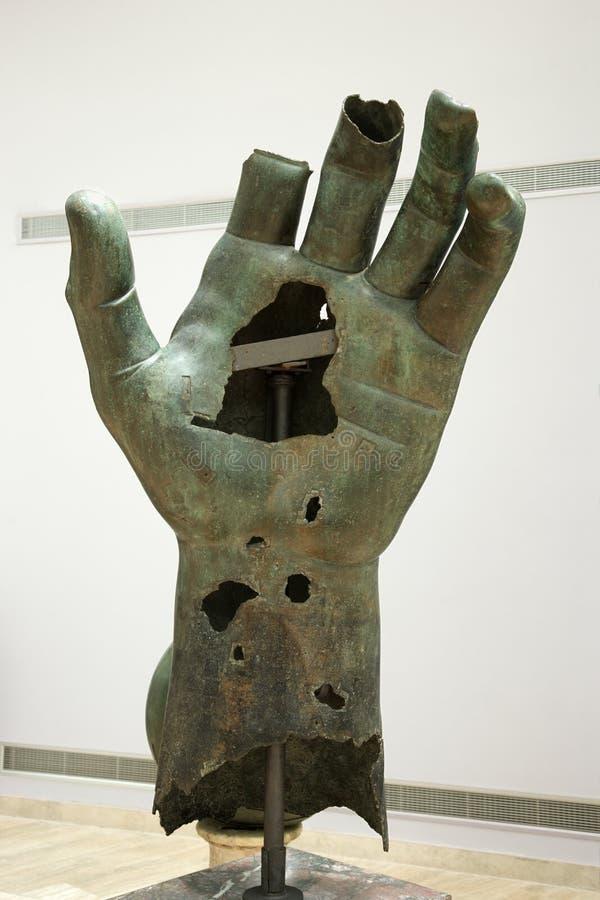ręce capitoline kolosalny muzeum. zdjęcie royalty free
