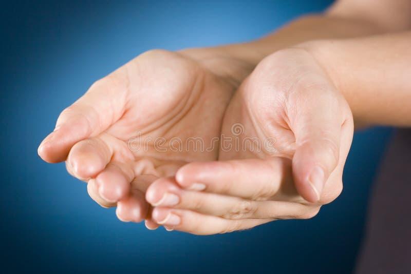ręce cupped obraz stock