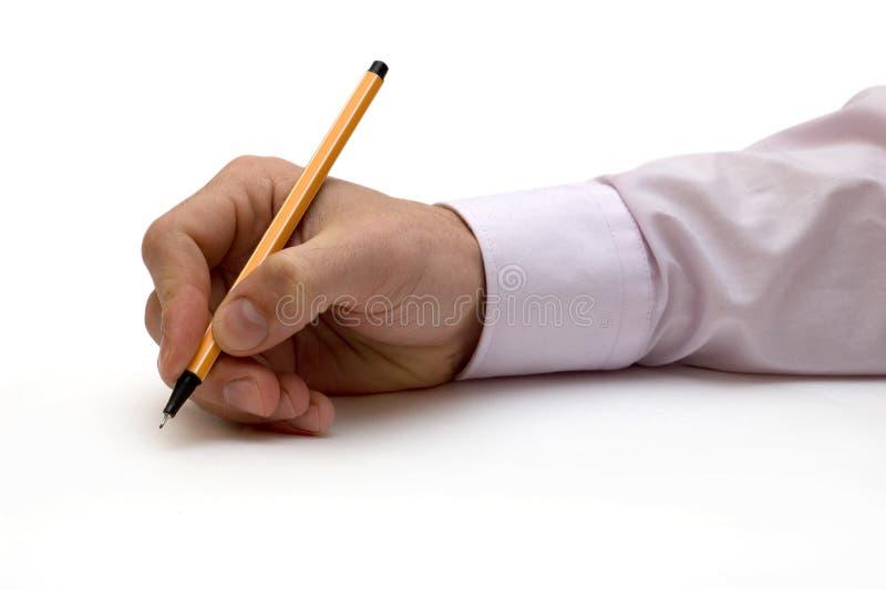 ręce długopis obrazy stock