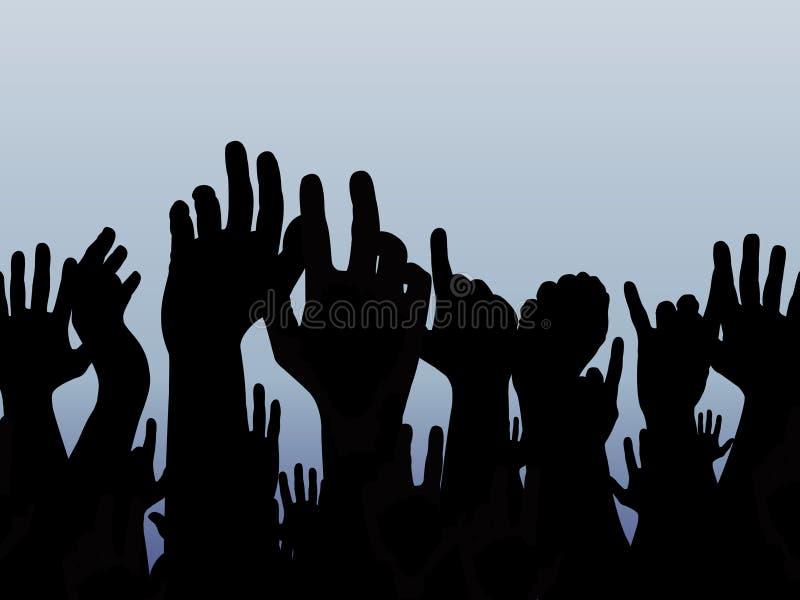 ręce do góry ilustracja wektor