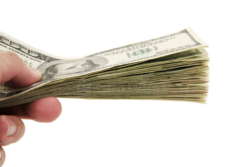 ręce, dolarów zdjęcia royalty free