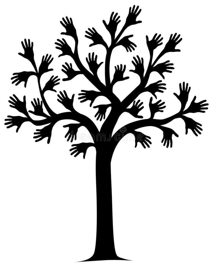 ręce drzewo ilustracji