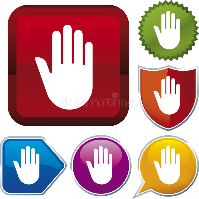 ręce ikony serii stop ilustracji