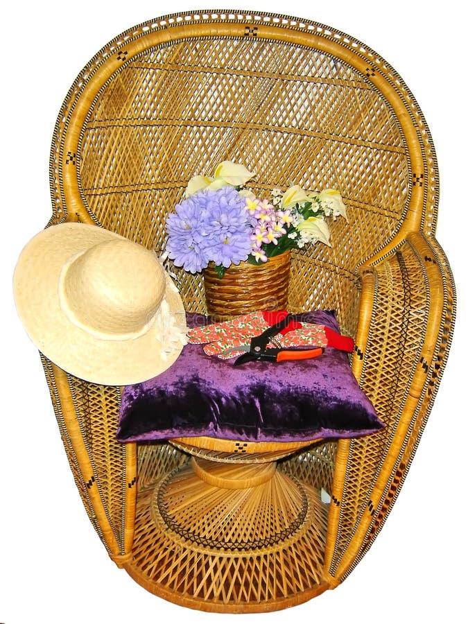ręce krzesła w ogrodzie narzędzi zdjęcie stock