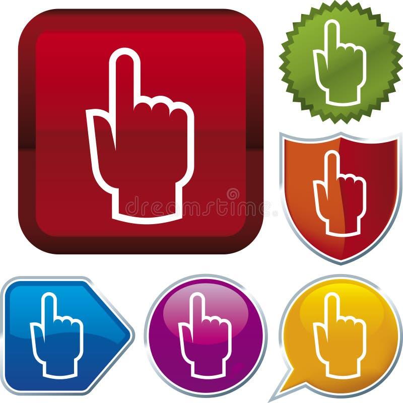 ręce kursor ikony serii ilustracja wektor
