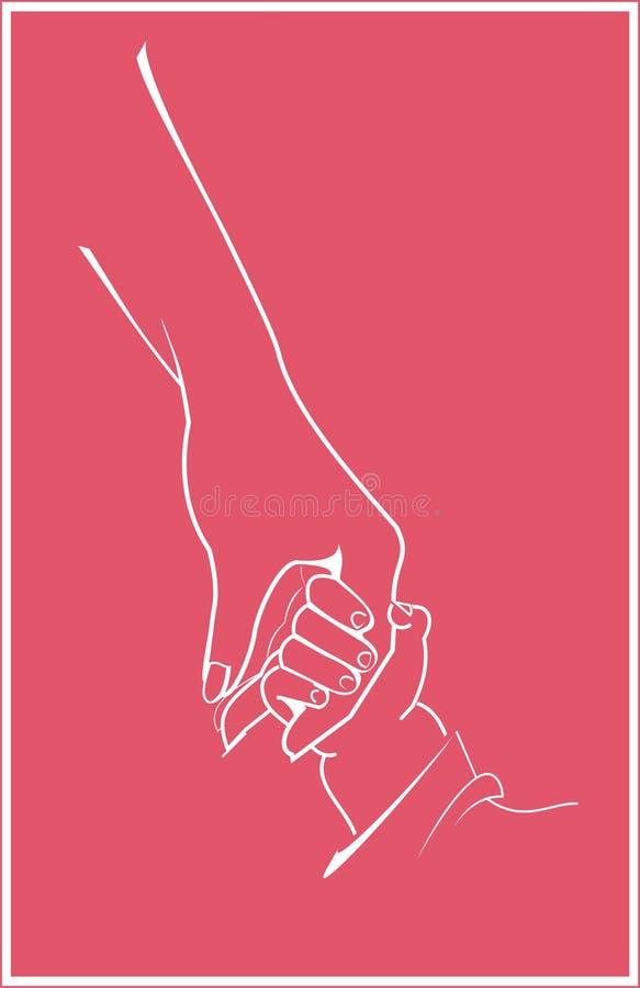 ręce matki dziecka