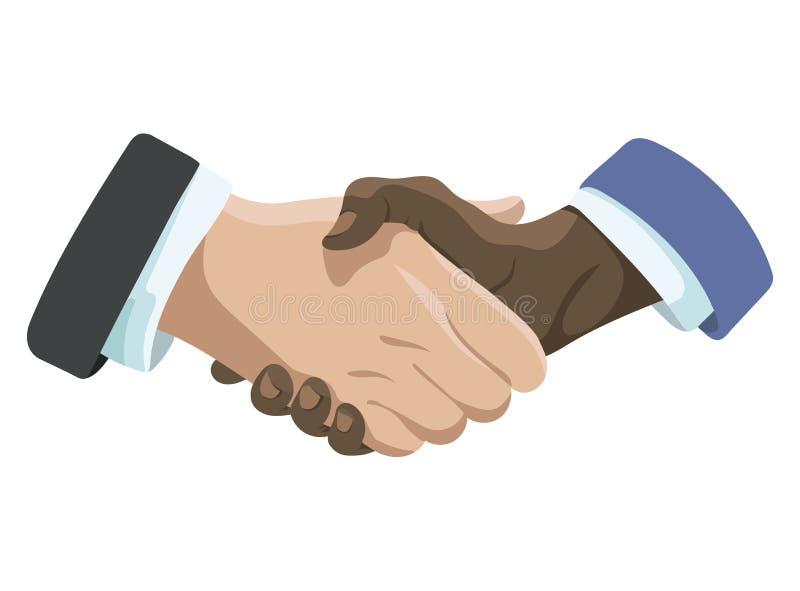 ręce mi Filia uścisk dłoni Trząść ręki mężczyzna Wektorowa ilustracja dla biznesu na białym tle ilustracji